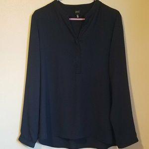 Saks Fifth Avenue Black Label navy blouse